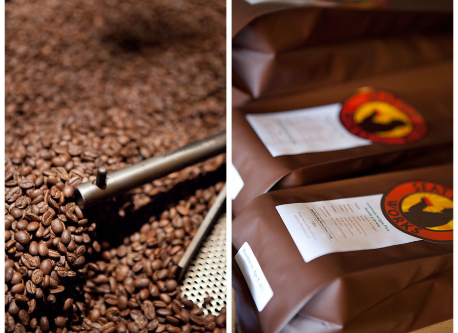 Seattle Coffee Works - Roasting and Packaging