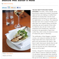 Olivia Brent Seattle Met Editor's Note November