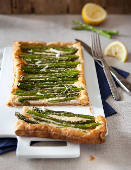 Olivia Brent Seattle Food Photography Spring Promo Asparagus Tart