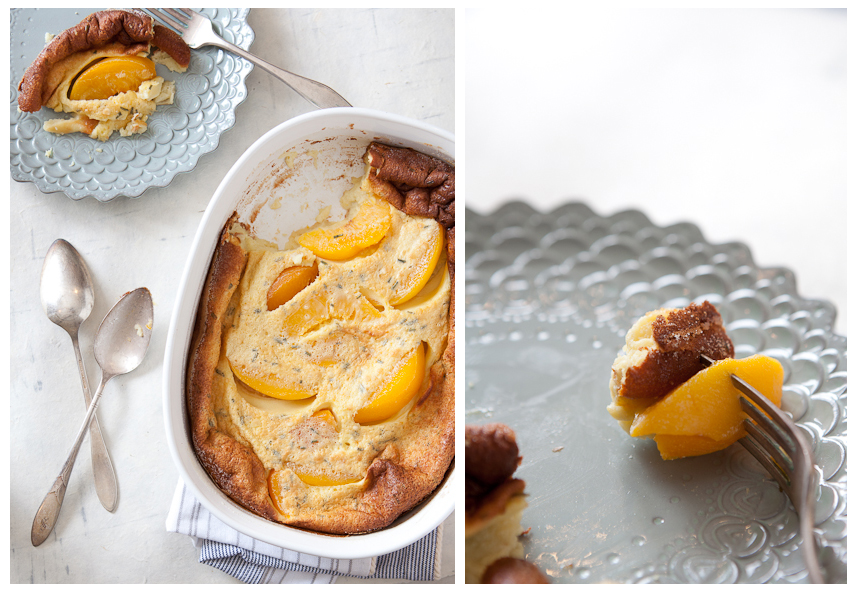 Olivia Brent Food Photographer in Seattle Peach Clafoutis Spring Promo